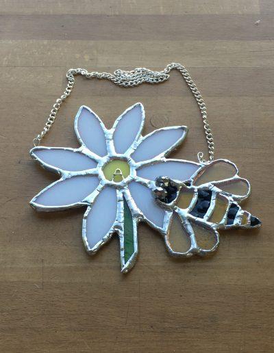 Bee and daisy sun catcher