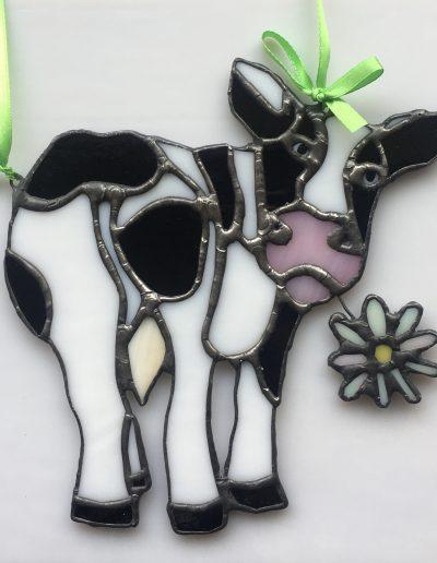 Daisy Cow Sun Catcher