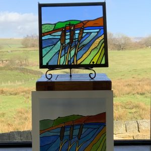 Stained Glass & Original Watercolour Artwork Set