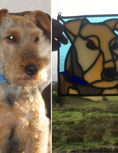 Terrier Dog Portrait Panel