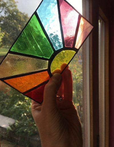 Rainbow Sunburst Panel
