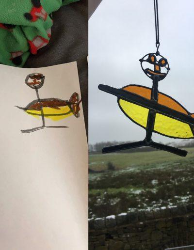 Child's art sun catcher
