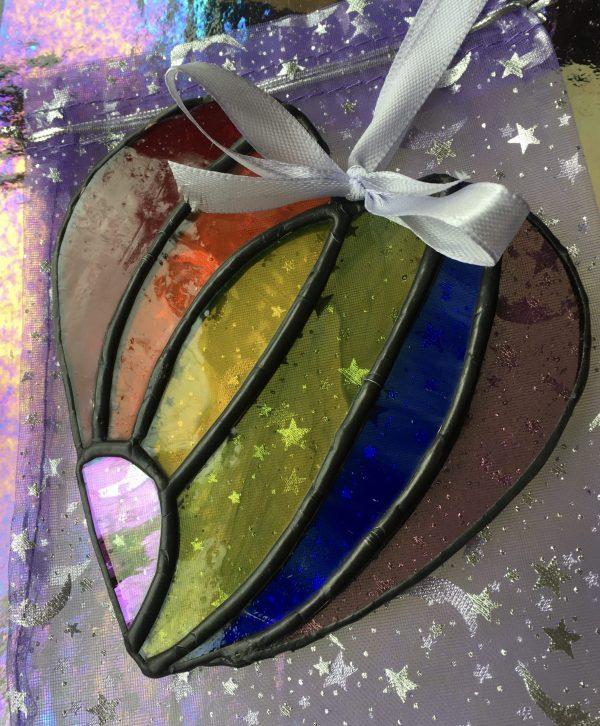 Rainbow Heart curved
