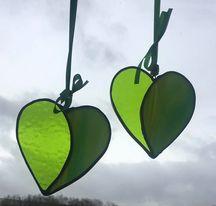 Green Heart Sun Catcher