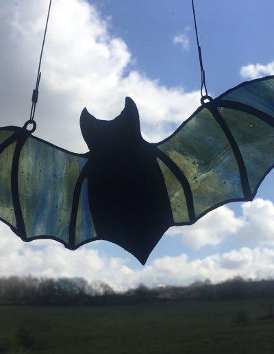 Stained glass bat sun catcher
