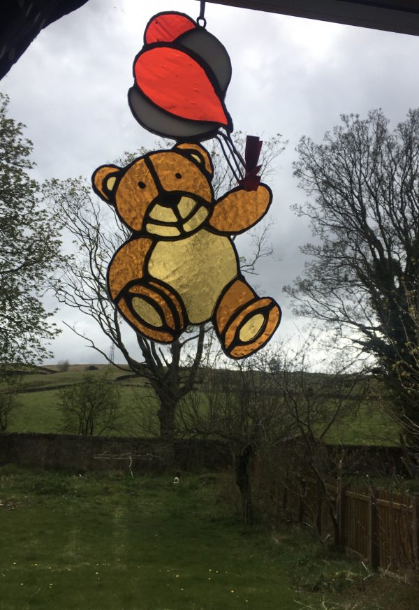 Stained glass teddy bear