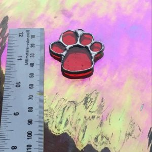 Red Paw Ornament