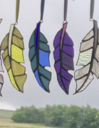 Feather sun catcher