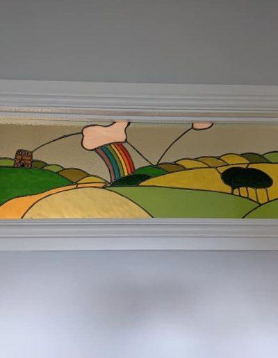 Rainbow Landscape Art Panel