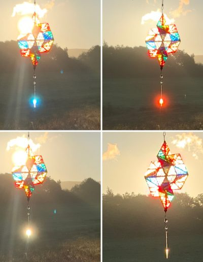 Stained glass and Crystal spinner