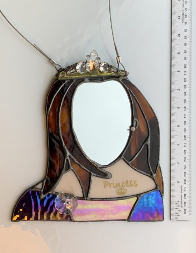 Stained glass & crystal Princess Mirror